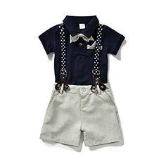 Denim Shorts 2Pcs Sets Dinlong Summer Toddler Baby Kids Boys Short Sleeve Cartoon Cute Duck Printed Tops T-Shirt