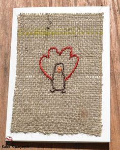 Thanksgiving Greeting Card Turkey on Burlap 4 x by KaleeGwarjanski, $5.00  #happythanksgiving #thanksgivingcard #turkey #handmade