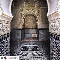 #Repost @tileometry with @repostapp.  What would #MosaicMonday be without including #handmade #zelij #tiles? As one of our favorite IG streams @ihavethisthingwithzelij has a way with transporting us to another place and time.  #artisan #arquitetura #architecture #ancient #ceramics #design #designcrush #destination #historical #handcarved #Morocco #Moroccan #mosaic #pattern #passage #tile #tilework #tileporn #tileometry #tileart #travel #tileaddiction by thertastore