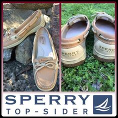 Sperry Top-sider beige boat shoes Angelfish style. Worn a few times, still in excellent condition. Sperry Top-Sider Shoes Flats & Loafers