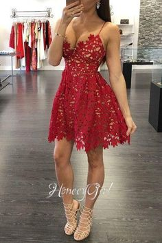 Homecoming Dresses,Party dress,Homecoming Dress Backless, Homecoming Dress Above Knee, Spaghetti Straps Homecoming Dress, Party Dress A-line for Junior HG1188