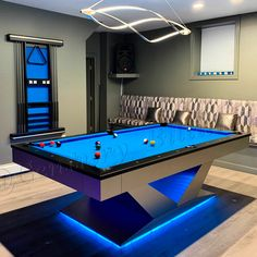 Custom Modern Pool Table Design with LED light Available in regulation , Pro , & sizes Custom metal finishes available Text for more details