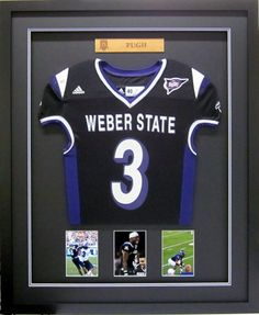 This football jersey is mounted on inlaid mats and is completely weber state university football jersey framed by frameworks of utah solutioingenieria Gallery