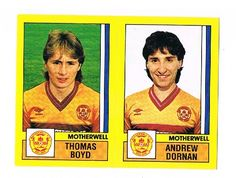 Thomas Boyd / Andrew Dornan of Motherwell - Football 87 - Panini - English & Scottish Leagues Football Season, English, Baseball Cards, English Language