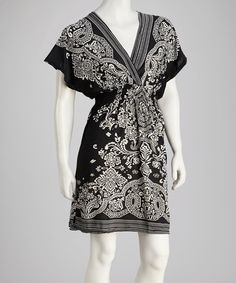 Take a look at this Black Surplice Dress by Life and Style Fashions on #zulily today! $17.99, regular 36.00