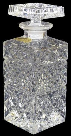 ボヘミア デキャンタ・チェコスロバキア/Bohemian glass decantation