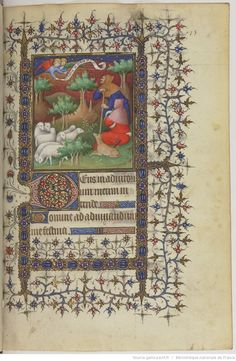 Title : Horae ad usum Parisiensem. Date of publication : 1375-1500   page 75r