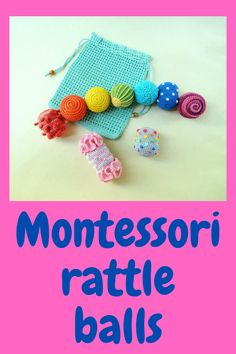 Montessori sensory balls and storage bag / Waldorf crochet toy / Baby development toys / Toddler activity crochet rattle baby toys Crochet Ball, Crochet Toys, Organic Baby Toys, Rainbow Crochet, Developmental Toys, Kids Hands, Baby Development, Learning Colors, Educational Toys