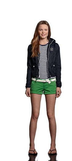 Abercrombie Kids - Live For The Weekend: get ready for spring break in a striped tee, bright shorts and a preppy nylon jacket. slip into your flip-flops then add a little texture to your look with a classic woven belt.