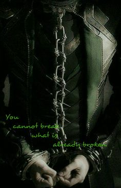You cannot break what is already broken