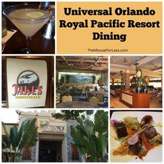 Royal Pacific Dining at the Universal Orlando Resort - Great brunch at Islands and great drinks and appetizers at Jakes!