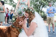 Rockford Wedding Photography by Brian Adams; bride and her dog golden retriever; dog in wedding ceremony; boho bride; love your pets; pets are family