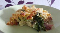 Nudelauflauf mit Brokkoli und Schinken