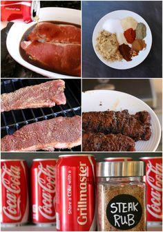 Yummy Coca-Cola Steak Rub Recipe for Father's Day:  Child at Heart #shareyoursummer #ad #shareacoke @walmart @cocacola