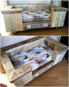 pallet mobile dog bed