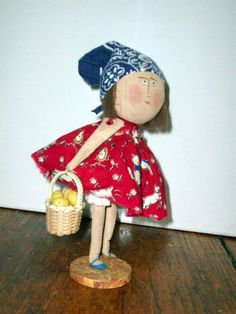 Sew Be It Tiny Taters mini doll with potatoes by SistaSisu on Etsy, $64.00