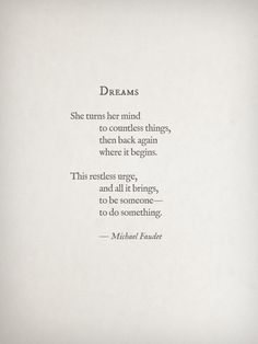 Dreams by Michael Faudet is perfect.