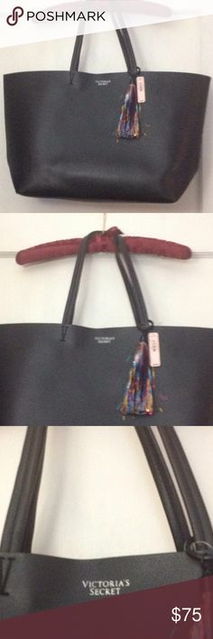 Beautiful new Victoria Secret black tote/bag New black Victoria Secret bag/tote.  This bag is very large and stylish. Item #3 Victoria's Secret Bags Totes