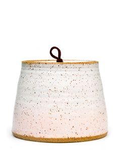 Speckled Gradient Ceramic Jar