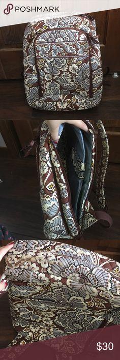 Selling this Vera Bradley Laptop Backpack - Slate Blooms on Poshmark! My username is: akkuhn. #shopmycloset #poshmark #fashion #shopping #style #forsale #Vera Bradley #Handbags