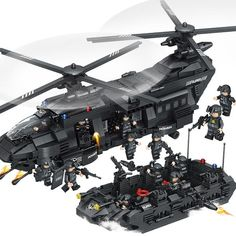 Cheap toys for, Buy Quality lego swat directly from China swat team Suppliers: Large Building Blocks Sets SWAT Team Transport Helicopter Compatible Legoed SWAT City Police Gift Toys for Children Kids Legos, Armadura Ninja, Swat Police, Amazing Lego Creations, Police Gifts, Model Building Kits, Military Helicopter, Lego Helicopter, Lego War