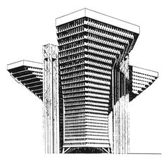 Wilhelm Holzbauer, Helicopter Office Building, 1961