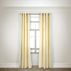 Keeney Nature/Floral Grommet Sheer Curtain Panels