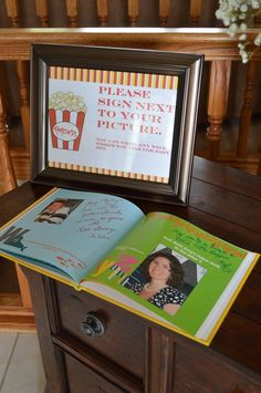 Cute idea for a baby shower. Have guests provide you with a photo, then make Shutterfly photo book to use as guest book