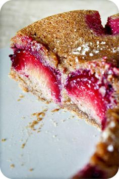 Plum in love spiced cake...the author of the blog suggests it for tea time and I would have to agree.