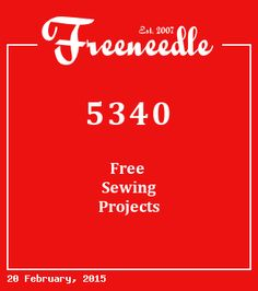 Freeneedle is a directory of the best free sewing patterns and projects online Come in and browse 5341 of the best free sewing patterns and tutorials on the web