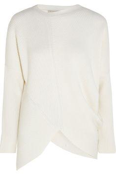 Stella McCartney   Asymmetric ribbed wool sweater   NET-A-PORTER.COM