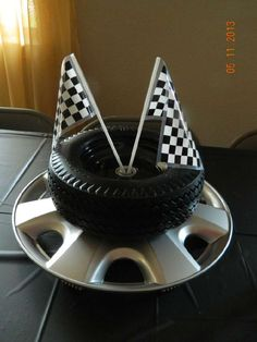 tire cake on a hubcap