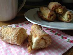 olles *Himmelsglitzerdings* Küche und mehr: Cinnamon Cream Cheese Rolls - Frischkäseröllchen mit Zimtzucker