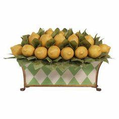 Faux Lemon & Leaf Arrangement