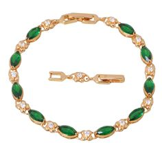 Find More Charm Bracelets Information about Promotion  Best Quality yellow gold plated Green cubic zirconia Emerald Bracelets , fashion jewelry B137,High Quality jewelry hebrew,China jewelry alphabet Suppliers, Cheap jewelry findings sterling silver from Dana Jewelry Co., Ltd. on Aliexpress.com