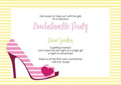 Printable high heel stiletto party invitation templates my party free printable invitations templates stopboris Image collections