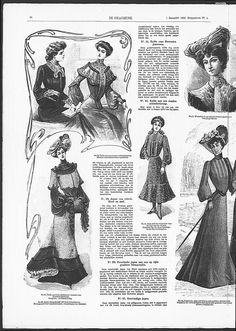 Some Art Nouveau influence in left upper corner. (visit site for bigger picture)  Gracieuse. Geïllustreerde Aglaja, 1902, aflevering 5, pagina 36