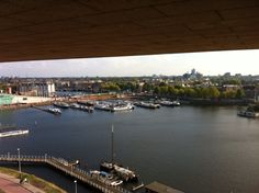 Top of the bibliotheek, looking over Amsterdam! Great way to view the city and does the most amazing hot chocolate!! Must see...
