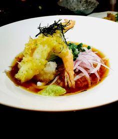 우니와 이꾸라를 곁들인 히야시 우동 Cold Udon Noodles with Sea Urchin, Salmon Roe