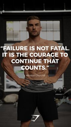"""Failure is not fatal. It is the courage to continue that counts"" – Winston Chur… ""Failure is not fatal. It is the courage to continue that counts"" – Winston Churchill. Training Motivation, Sport Motivation, Fitness Motivation Quotes, Daily Motivation, Positive Motivation, Workout Motivation, Motivational Quotes, Funny Quotes, Inspirational Quotes"