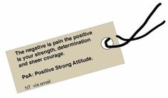 A very strong positive message!