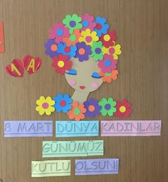 Sınıfımızın 8 Mart Dünya Kadınlar Günü Panosu-EGT