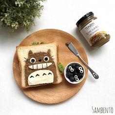 Totoro sandwich by Tian Min (@5ambento)