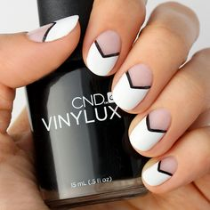 Mani+Monday:+Black+and+White+Chevron+Nail+Tutorial