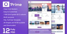 O'prime-Multi Purpose PSD Template by faraklit34 Oprime-Multi Purpose PSD Template Oprime is a very clean and modern designed PSD template for multi purpose for any business. The