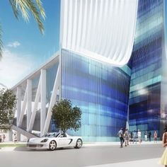 The base of the planned Miami Innovation Tower