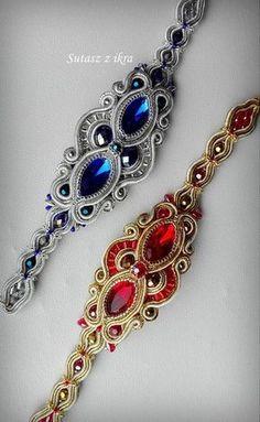 Soutache Bracelet, Swarovski Bracelet, Soutache Jewelry, Gemstone Jewelry, Beaded Jewelry, Jewelry Bracelets, Handmade Jewelry, Shibori, Diy Earrings