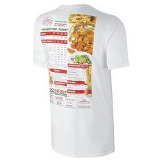 05bd9f7e3ec02 Nike SB Skate Mental Pizza Men s T-Shirt Size Small (White) - Clearance Sale