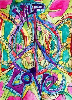 Wild Love, Singleton Hippie Art