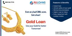 Gold Loan - Ruloans Now get loan even if you have a bad CIBIL Score. For more details visit - https://www.ruloans.com/gold-loan